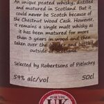 CHESTNUT WOOD Single Malt Whisky  59% abv 50cl